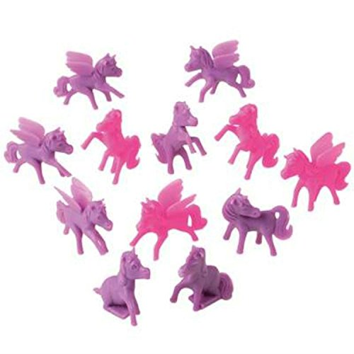 Pony Mini Cupcake Toppers, Pink and Purple (Set of 12), 2'', by Pony (Image #1)