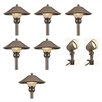 Amazon low voltage led bronze outdoor light kit 8 pack clothing low voltage led bronze outdoor light kit 8 pack workwithnaturefo