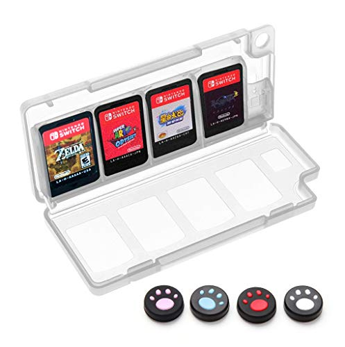 Accessories Bundle for Nintendo Switch, Kit with Carrying Case,Protective Case with Screen Protector,Compact Playstand,Game Case,Joystick Cap,Charging Dock,Grip and Steering Wheel for Nintendo Switch 7