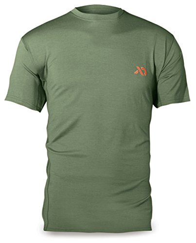 First Lite - Llano 170g Merino Short Sleeve Crew Top in Pine MD - Pine