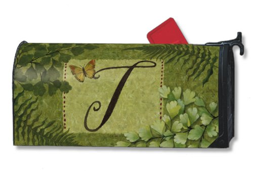 Nature's Monogram T Magnetic Mailbox Cover Initial T Mail Wrap