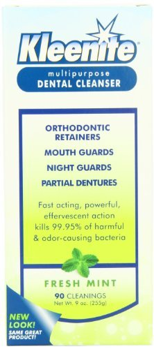 Kleenite Kleenite Dental Cleanser Fresh Mint, Fresh Mint 9 oz, Pack of 3