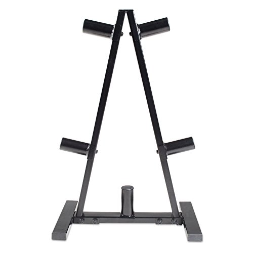 CAP-Barbell-RK-2BB-A-Frame-Olympic-Plate-Rack-Black