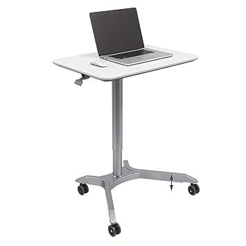ZHIRONG Carro de Escritorio móvil, de pie o Sobre Ruedas, Mesa para Laptop,