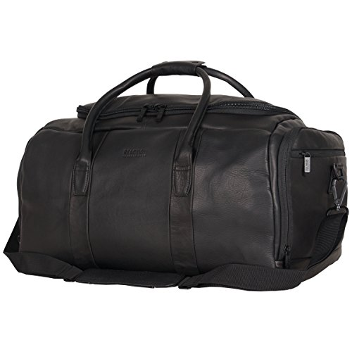 """41qXKK77AmL - Kenneth Cole Reaction Duff Guy Colombian Leather 20"""" Single Compartment Top Load Travel Duffel Bag, Black"""