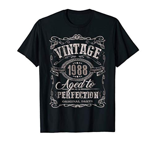31st Birthday gift shirt Vintage dude 1988 31 year old shirt -