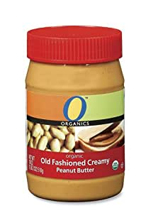 O Organics Old Fashioned Creamy Peanut Butter, 18 Ounce Jars (Pack of 6)