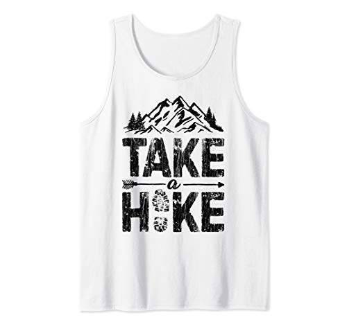 - Take A Hike Funny Outdoor Hiking Mountain Hiker Gifts Tank Top