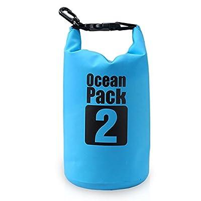 Bear Outdoor 500D Tarpaulin Heavey-Duty PVC Water Proof Dry Bag Sack for Boating, Kayaking, Hiking, Snowboarding, Camping, Rafting, Fishing and Backpacking