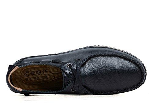 On Mocasines SK para Stutio Slip Planos Hombre Negro Casual Loafers Conducción Zapatos Cuero Moda Zapatillas de de pwEvxXrE