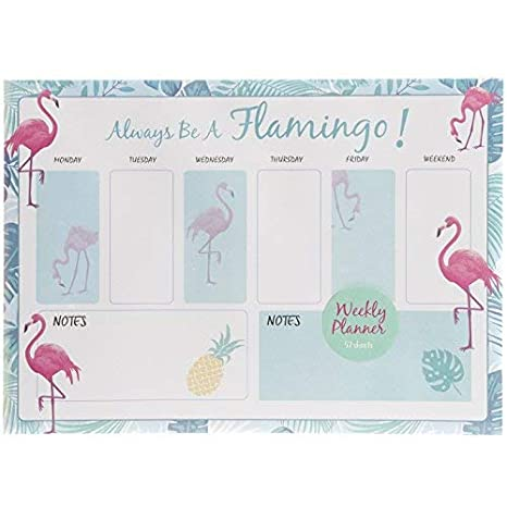 Weekly Planner Desk Pad - Calendar School Office Mermaid Flamingo Llama Unicorn (Mermaid)