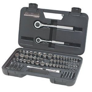 Blackhawk By Proto 97065 Drive Combination Socket Set Containing 1/4-Inch and 3/8-Inch Sockets, 64-Piece - Wrench Ratchet Blackhawk