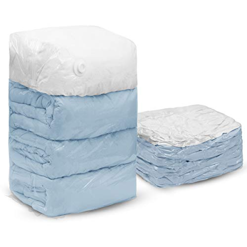 TAILI Cube Vacuum Space Saver Bags Jumbo Size 4 Pack of 31x40x15 inch Extra Large Compressed Storage Bags for Pillows Comforters, Pillows, Bedding, Blankets, Clothes