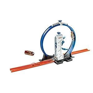 Hot Wheels- Pista con Il Lanciatore Loop per Macchinine, Include i Connettori e Un Veicolo, DMH51 5 spesavip