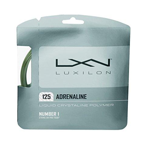 Wilson LUXILON Adrenaline 125 Tennis String, Platinum, (Platinum Gauge)
