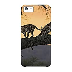 Top Quality Protection Leopard Pair At Sunset Case Cover For Iphone 5c