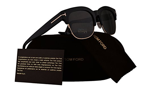 Tom Ford FT0597 Harry Sunglasses Shiny Black w/Polarized Grey Lens 01D - Harry Sunglasses
