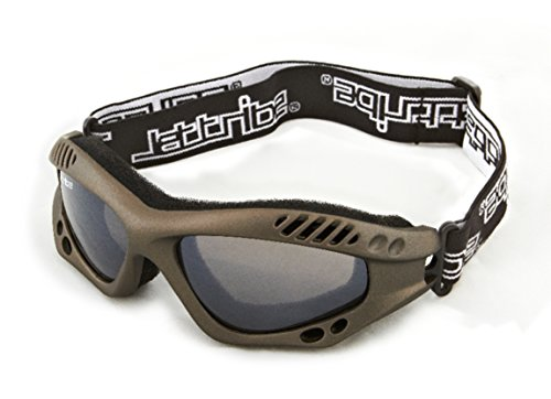 Expert Goggles Gun Metal Frame/Smoke Lens + Case Sunglasses Floating Water Jet Ski Goggles Sport Designed for Kite Boarding, Surfer, Kayak, Jetskiing, other water sports.