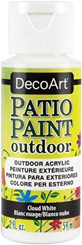 Patio 8 Oz Paint - DecoArt DCP14-9 Patio Paint, 2oz, Cloud White