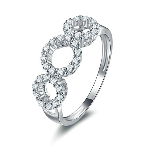 Aooaz Jewelry Wedding Ring Silver Material Circle Silver Ring For Women Wedding Bands Us Size 10