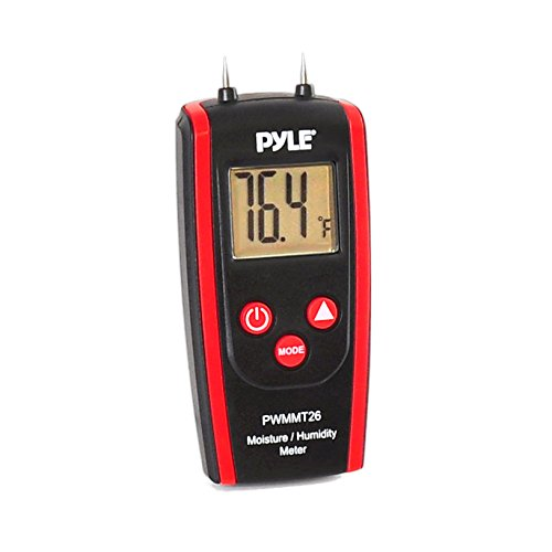 Pyle PWMMT26 Digital LCD Display Wood Moisture Meter for Wood, Cement and Mortar