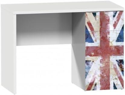 Suarez d044-bri British Escritorio con cajones melamina Blanco 140 ...