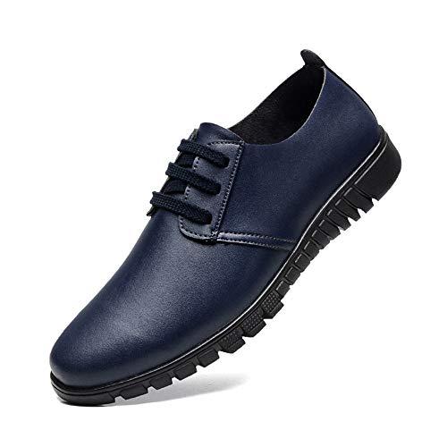 casual Blu da stile da scarpe e Marrone casual autunno Scarpe pelle Scarpe Dimensione Oxford Jiuyue 2018 shoes 47 uomo EU Uomo uomo Color Pelle cava in xq4IwzF