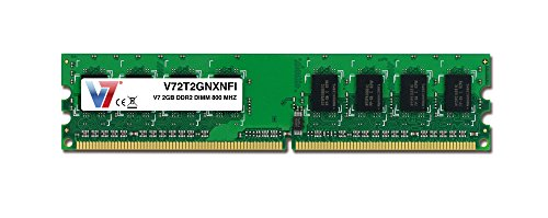 V7 V72T2GNXNFI  2GB DDR2 800MHz PC2-6400 SO-DIMM Notebook Memory - 2T2GNXNFI (22' Rock Kit)