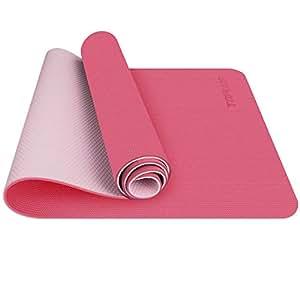 TOPLUS Esterilla Yoga Antideslizante Alfombrilla de Yoga Esterilla Pilates Esterilla Deporte- con Correa de Hombro 183cm x 61cm