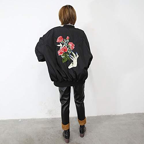M Jacket Suelta De Pilot Gruesa Más Bordado Wadded Uniforme Algodón Chaqueta Béisbol Casual Las Invierno Tamaño Otoño Mujeres Femenino Capa El Jjhr 5xBq4p1wnC