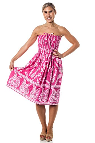 (Alki'i One-size-fits-most Tube Dress/Coverup - Jasmine Pink)