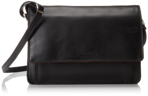 Derek Alexander EW Flap Organizer, Black/Red, One Size