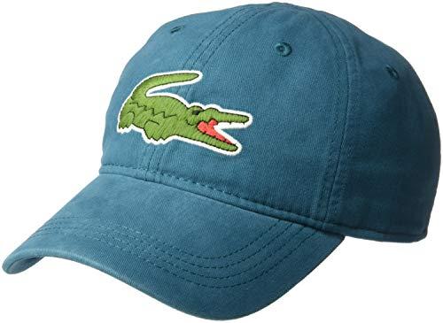 (Lacoste Mens Big Croc' Gabardine Cap, LUCIDA, ONE)