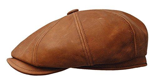 f59531518 Rooster Distressed Vintage Leather newsboy IVY Cap Gatsby Hat ...