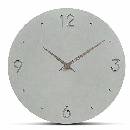FlorLife Large Decorative Wall Clocks, Creative White Vintage Clocks Silent Non-Ticking Battery Operated Hanging Clock 12 Inch for Dining Room, Kitchen, Living Room, Bathroom, Bedroom, Office by FlorLife