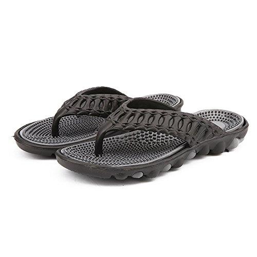 Vertvie Men Sandal Flip Flop Slip-resistant Sandals Slippers Black BUr7brv