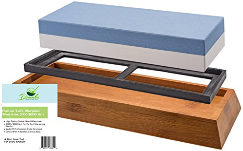 Premium-Knife-Sharpening-Stone-Double-Sided-3000-8000-Grit-Whetstone-Knife-Sharpener-Japanese-Waterstone-Including-A-Non-Slip-Silicon-Bamboo-Base-By-Danube