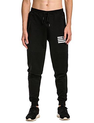 Coofandy Men's Jogging Harem Pants Running Trousers Jogger Pant Sweatpants, Black, M