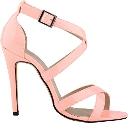 Salabobo - Zapatos con tacón mujer Rosa