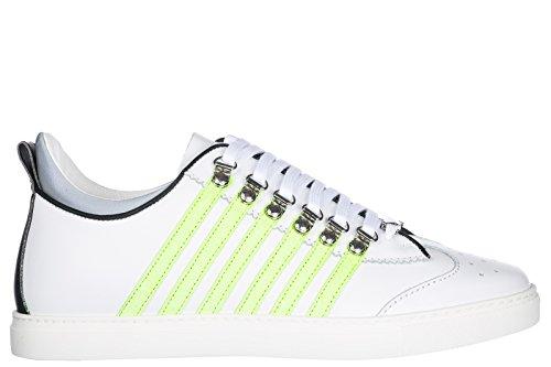 Chaussures Pour Hommes Dsquared2 En Cuir Espadrilles 251 Blanc