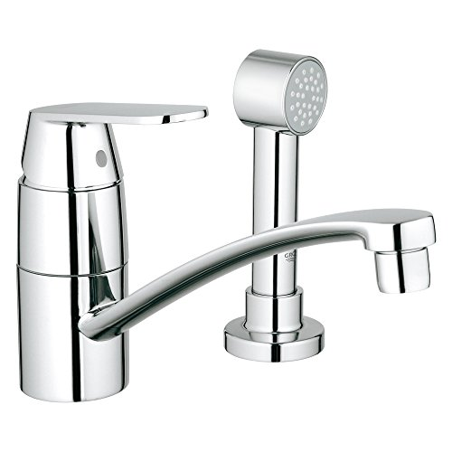 Eurosmart Cosmopolitan Centerset Single-Handle Kitchen Faucet With Side Spray