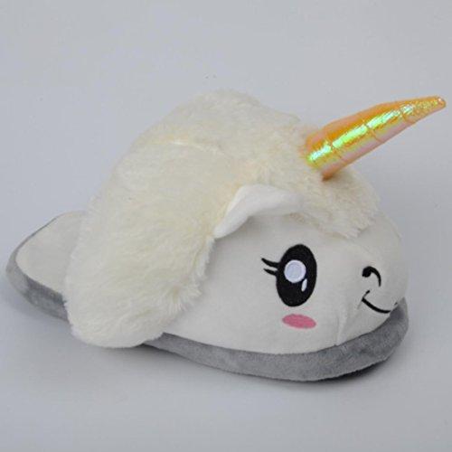 Schuhe cartoon Winterhaus Weiß Hausschuhe Pantoffel kreative Plüsch ZARU cqWHYAH