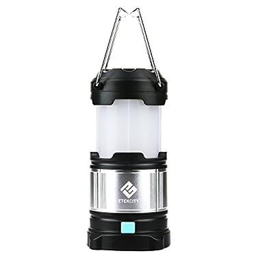 Etekcity Upgraded Portable Rechargeable LED Camping Lantern, 4400mah USB Power Bank (Black)