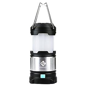 Rechargeable Camping Lantern , Etekcity Upgraded LED lantern with Magnetic Base, 4400mah USB Power Bank (Black)