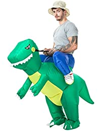 Inflatable Costumes Halloween Unicorn Costume and Dinsaur Costume Air Blow-up Costume - Adult Size