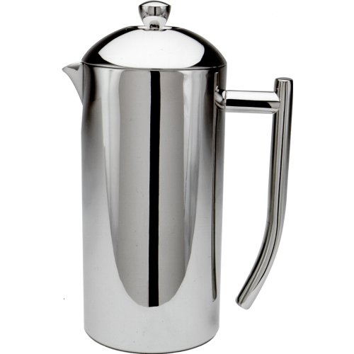 Frieling USA Double Wall Stainless Steel French Press Coffee Maker with Patented Dual Screen, Polished, 36-Ounce ()