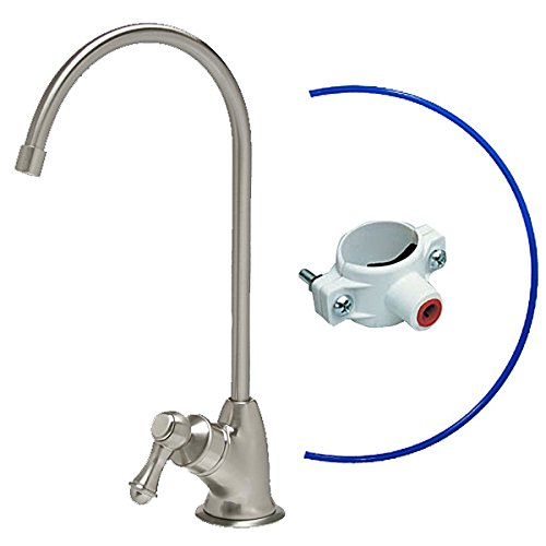- Lead-Free 100% Safe KleenWater Reverse Osmosis RO Kitchen Faucet, Air Gap Brushed Nickel Water Faucet, Luxury European Style, IAPMO Certified