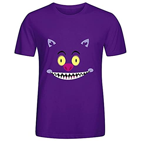Cheshire Cat Mens Crew Neck Big Tall Shirt Purple (Of Mice And Men Robert Blake)