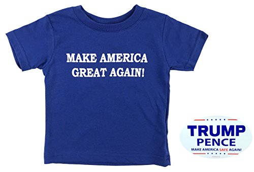 how-z-it Donald Trump Make America Great Again Baby Toddler T Shirt (18 Month, Royal Blue) (America Clothing)