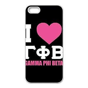 I Love Gamma Phi Beta iPhone 4 4s Cell Phone Case White DIY present pjz003_6335842